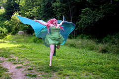 IMG_1630e (ScarletPeaches) Tags: donnav fairy green pinkhair outdoors isiswings pixie
