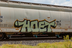 (o texano) Tags: houston texas graffiti trains freights bench benching hoet 2f dtb