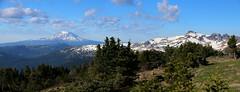 Mount Adams and and Gilbert Peak from Bear Creek Mountain (jlcummins - Washington State) Tags: goatrockswilderness bearcreekmountain backpack hike trail mountains landscape washingtonstate yakimacounty cascademountains