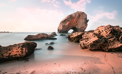 Santa Cruz (virginie kriegel) Tags: europe portugal beach sun sunset ocean sea wave sand water blue sky clouds summer new beautiful beauty light longexposure red artistic seascape landscape travel