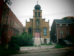 It's All Greek to Me. (david grim) Tags: hilldistrict pittsburgh pa pennsylvania alleghenycounty streetphotography greekorthodox cmechurch