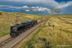 Steaming by Terry Ranch (Colorado & Southern) Tags: unionpacific unionpacificgreeleysubdivision up844 steamlocomotive steam trains train railfanning railroad railfan railway railroads railroading wyoming wyomingtrains wyomingrailroads passenger passengercars cheyennefrontierdays