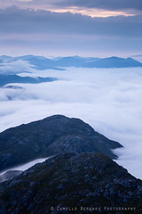 Clouds, clouds and more clouds (Camillo Berenos) Tags: greatbritain munro scottishhighlands inversion clouds dawn scotland mountain ridge mountains summits above