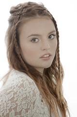 High key (mbustamanteph) Tags: girl redhair model highkey studio white portrait