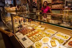Mercado de San Miguel, Madrid (Lus Arede) Tags: espanha spain madrid mercado food store shop jamon yellow comida