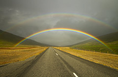 Ring Road Rainbow (Matt Champlin) Tags: iceland ice rain rainy weather life nature outdoors bright vibrant rainbows doublerainbow canon 2016 travel ringroad summer summertime rural country