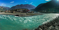 Utror and Ushu River meet up (Murtaza Mahmud [Thank you for 350k+ views]) Tags: travel inspiringtravel asia backpacking canonphotography colorsofnature canon excellentlandscapes holiday kpk landscape mountainlayers nature outdoor forest pakistan river scapesky trip tamron ushuriver valley ushuvalley water sky khyberpakhtunkhwa panorama explore