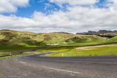 On the road, west of Vik, Iceland (St_Eric) Tags: iceland islande rollinghills vik green landscape