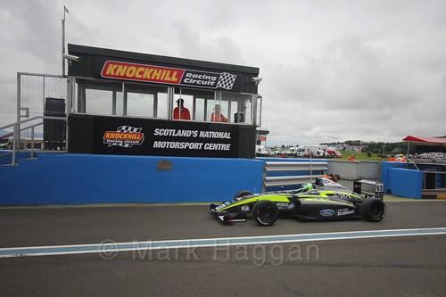 Zane Goddard ahead of British Formula Four race 2 during the BTCC Knockhill Weekend 2016