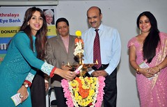 Actress Sanjjanaa-For a social cUse @ an eve donation camp for a charity social cause