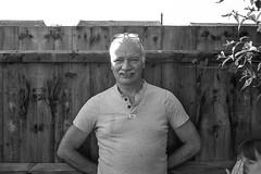 Grandpa in the garden (tercrossman87) Tags: yashica electro 35 gx ilford delta 100 kodak xtol 11 film home development epson v550 filmdev:recipe=10952 ilforddelta100 kodakxtol film:brand=ilford film:name=ilforddelta100 film:iso=100 developer:brand=kodak developer:name=kodakxtol