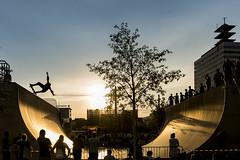 Halfpipe at sunset (www.arternative-design.com) Tags: action bielefeld gegenlicht kesselbrink kesselcup liebefeld scherenschnitt silhouette sonnenuntergang sport skate skateboarding sports sundown sunset
