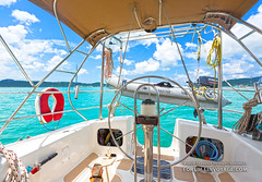 Our yacht is ready to go! (forum.linvoyage.com) Tags: fish fishing sea ocean yacht outdoor vehicle boat sunset sun nature andaman indian phuket thailand koh racha yai noi catamaran people girl woman                        underwater yachting sail  waterfront water        day cloud sky fun