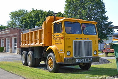 White Road Xpeditor Dump Truck (Trucks, Buses, & Trains by granitefan713) Tags: truck antiquetruck vintagetruck oldschool oldtruck white whiteroadxpeditor tandem dumptruck enddump tandemdumptruck coe cabover