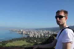 Corey looking over Honolulu