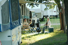 Campground Grass (joeldinda) Tags: people musicians raw d70 bluegrass charlotte guitar michigan banjo tent campground camper picking campers pickers joeldinda