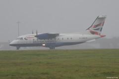 D-CIRD Dornier 328 Sun Air EGSS 26/11/14 (David K- IOM Pics) Tags: sun london air 328 british ba airways airlines stansted sus prop turboprop cirrus stn dornier lcy egss eglc dcird