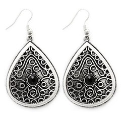 5th Avenue Black Earrings P5110-3