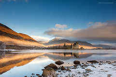 Dawn at Loch Awe (Damon Finlay) Tags: winter mountains castle sunrise canon landscape dawn scotland highlands scottish loch wilderness awe efs 1022mm lochawe scottishhighlands efs1022mm kilchurn kilchurncastle highlandsandislands 60d canon60d