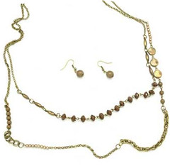 5th Avenue Brass Necklace P2441A-4