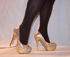 02 (read my Profile before anything!!!!!) Tags: gold high buffalo highheels plateau skirt heels heel stilettos