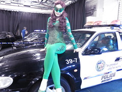 Digicon (the_gonz) Tags: sexy car pose cool model geek cosplay convention bonnet comiccon con sexygirl digicon poisonivycosplay digicondoncaster