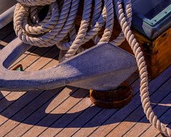 Properly Stowed (joegeraci364) Tags: ocean new wood sea england seascape heritage classic nature water weather vintage boat marine ship action yacht outdoor antique connecticut craft vessel rope atlantic deck maritime anchor boating sail nautical