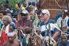 Sven and Katarina from Sweden, and national spectators (Sven Rudolf Jan) Tags: traditional papuanewguinea alotau canoeandkundufestival