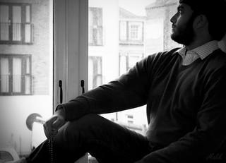 Self Portrait; Pensive.