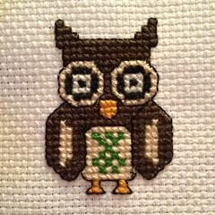 Finished owl (jenn2d2) Tags: crossstitch crafts