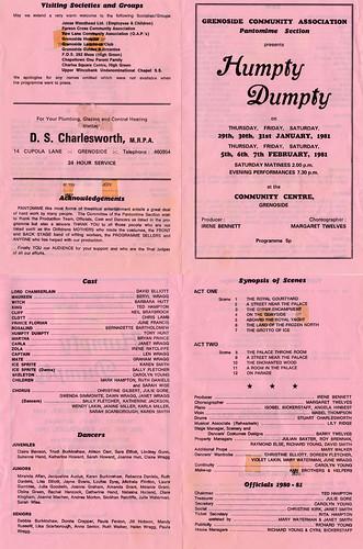 1981 Humpty Dumpty 00 Programme