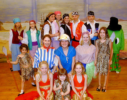 2003 Treasure Island 02 (back from left Amelia Ashton, middle from left Daisy Ashton,Hannah Watts,Katie Bullock,Kelly Marie Thornton, Claire Sweeney,front from left Eleanor Wheeler, Charlotte Walsh, Sophie Shearer