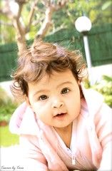 Pink (TasveerByTaru) Tags: pink girls people baby flower girl by kids contrast canon garden hair children photography rebel photo kid high eyes infant babies photographer child bokeh outdoor candid picture lifestyle pic curly mumbai infants t3i taru taster tasveer tasveerbytaru