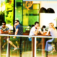 small Australian Restaurant-1754 (Ed Kruger) Tags: street city travel windows light summer people sun holiday men green tourism glass look sunshine sunglasses architecture bar buildings hair relax restaurant daylight women couple cityscape afternoon balcony pair sunday sunny australia brisbane veranda seats blonde jar rest bier shorts allrightsreserved admiralty cityscene photocity eaglestreetpier edkruger abaconda qfse kirillkruger rodkruger