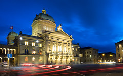 043/365: Bundeshaus (haslo) Tags: blue sky building cars clouds switzerland olympus hour bern bundeshaus federal omd em1 lightstream project365 taggedytag 115in2015