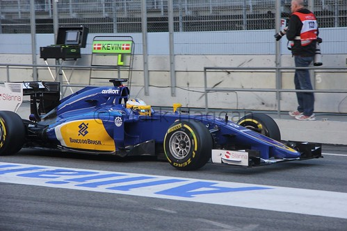 Felipe Nasr in Formula One Winter Testing 2015