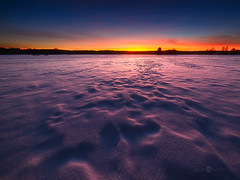 Purple Snow (Joni N) Tags: blue winter sunset red orange snow cold texture finland colorful purple horizon d800 14mm samyang