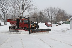 Town of Worth (4) (RyanP77) Tags: county winter snow cold truck town garage hill dump v series p worth jefferson blade plow tug blizzard oshkosh snowplow snowplows frink internationaltruck