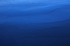 Ice (tech8 nor) Tags: blue sea abstract ice nature water frozen shadesofblue