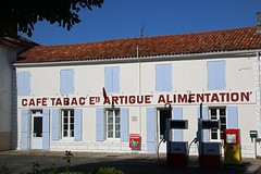 Caf-Tabac (christing-O-) Tags: summer france caf countryside village gas boutique 17 essence drugstore campagne charente lavallee