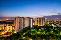 East Ang Mo Kio Skyline (hugociss) Tags: park city urban skyline garden landscape dawn town singapore cityscape suburban east malaysia punggol highrise oil residential hdb hougang angmokio seletar pasirgudang