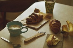 16.03.15 (nnnnikt) Tags: coffee dinner milk chocolate banana croissant musli