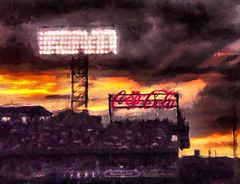 Fenway Park (Rusty Russ) Tags: park sunset red sky people game color sign boston composite night photoshop magazine t creativity lights stand photo yahoo blog google paint flickr pin all image artistic sox bat creative young photographers commons grand manipulation brush blogs national software montage saturation getty duffy fenway newsroom paysage hue flic winners geographic bing wiki facebook wikimedia openuniversity stumbleupon daum worldskills ilri painttexture reddit twitter photoscape flickriver pixelpeeper fiveprime flickrhivemind pinterest alpilo ocea