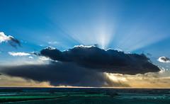 Fingers of God... (iratebadger) Tags: blue england sky orange cloud sun landscape nikon bleu cloudporn sunbeams raysoflight fingersofgod d7100 eastridings nikond7100