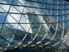P1120799b - MyZeil Impression with sky (JB Fotofan) Tags: sky lumix frankfurt himmel panasonic hochhaus glasdach skycrapper fz150 myzeil
