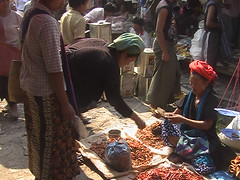 Hill Tribe Market on Inle Lake