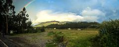 A rainbow in Otavalo