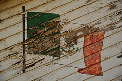 Remnants of the Mexican flag (radargeek) Tags: city art oklahoma painting peeling paint okc ok mexicanflag