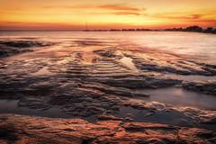 It's Not Dark Yet  DSC_9716 (BlueberryAsh) Tags: ocean longexposure sunset seascape colour beach water nikon jetty australia darwin breakwater topend ndfilter nightcliff nikon24120 cloudsstormssunrisesunset nikond750