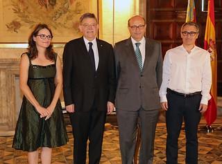 El President de la Generalitat, Ximo Puig, asiste el nombramiento del Síndic Major de Comptes, Vicent Cucarella. 21/07/16
